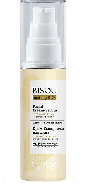 Cremă-ser matifiant pentru față - Bisou Matting Bio Facial Cream Serum