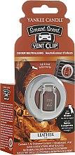 Parfumuri și produse cosmetice Difuzor arome mașină - Yankee Candle Smart Scent Vent Clip Leather