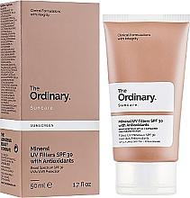 Parfumuri și produse cosmetice Protecție solară cu filtre minerale - The Ordinary Suncare Mineral UV Filters SPF30 Antioxidants