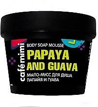 Parfumuri și produse cosmetice Săpun-spumă de duș - Cafe Mimi Body Soap Mousse Papaya And Guava