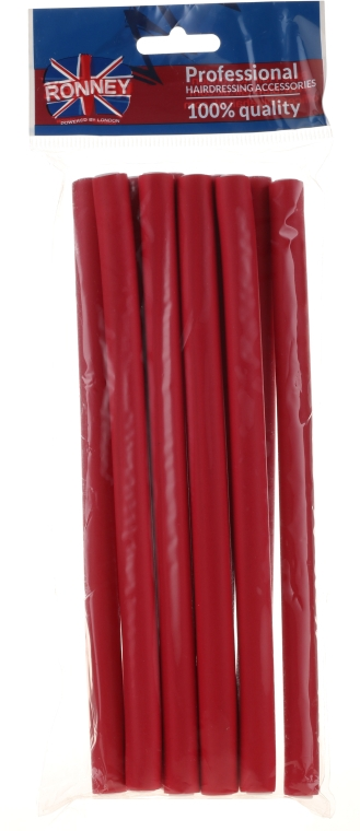 Bigudiuri pentru păr 12/210 mm, roșii - Ronney Professional Flex Rollers — Imagine N1