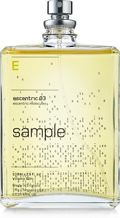 Escentric Molecules Escentric 03 - Туалетная вода (тестер) — фото N1