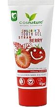 Parfumuri și produse cosmetice Pastă-gel de dinți, cu miros de căpșuni, pentru copii - Cosnature