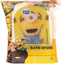 """Parfumuri și produse cosmetice Burete de baie """"Minions"""" pentru copii, minion vesel - Suavipiel Minnioins Bath Sponge"""