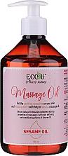 Parfumuri și produse cosmetice Ulei de masaj - Eco U Massage Oil Sesame Oil