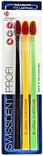 Parfumuri și produse cosmetice Set periuțe de dinți, duritate medie - SWISSDENT Profi Colours Soft-Medium Trio-Pack