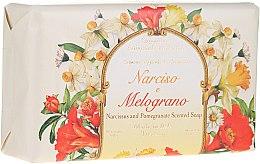 "Parfumuri și produse cosmetice Săpun natural ""Narcis și rodie"" - Saponificio Artigianale Fiorentino Narcissus & Pomegranate Soap"