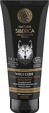 Cremă de protecție pentru față și mâini - Natura Siberica For Men Only Wolf Code Outdoor Protection Cream For Face & Hands — Imagine N1