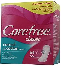 Parfumuri și produse cosmetice Absorbante de fiecare zi, 56 bucăți - Carefree Classic Normal With Cotton Extract