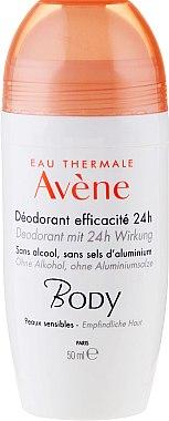 Deodorant roll-on pentru piele sensibilă - Avene Eau Thermale 24H Deodorant — Imagine N1
