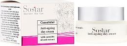 Parfumuri și produse cosmetice Cremă anti-îmbătrânire cu extract de cânepă de zi pentru față - Sostar Cannabidiol Anti Ageing Day Cream With Cannabis Extract