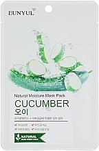 Parfumuri și produse cosmetice Mască de țesut cu extract de castravete - Eunyul Natural Moisture Mask Pack