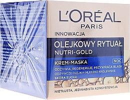 Parfumuri și produse cosmetice Cremă mască de noapte pentru față - L'Oreal Paris Nutri Gold Night Cream-Mask