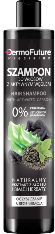 Șampon cu cărbune activ - DermoFuture Hair Shampoo With Activated Carbon