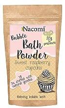 """Parfumuri și produse cosmetice Pudră pentru baie """"Cupcake dulce de zmeură"""" - Nacomi Bath Powder"""