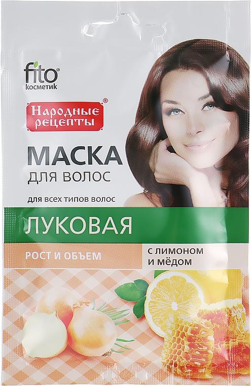 """Mască naturală de păr """"Ceapă"""" cu lămâie și miere - Fito Kosmetic"""