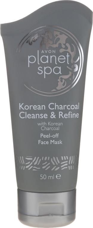Интенсивно очищающая отшелушивающая маска с активированным углем - Avon Planet SPA Korean Charcoal Peel-off Face Mask — фото N1