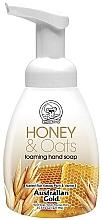 "Parfumuri și produse cosmetice Мыло-пенка для рук ""Мед и овес"" - Australian Gold Foaming Hand Soap Honey and Oats"