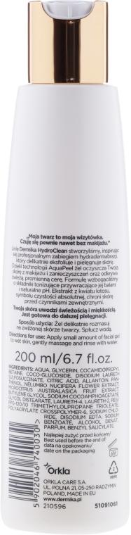 Gel de spălare - Dermika Hydro Clean Facial Toning Gel — Imagine N2