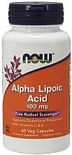 Parfumuri și produse cosmetice Acid alfa lipoic cu vitamine C și E, 100 mg - Now Foods Alpha Lipoic Acid