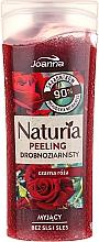 """Parfumuri și produse cosmetice Peeling fin pentru duș """"Trandafir negru"""" - Joanna Naturia Peeling"""