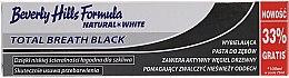 Parfumuri și produse cosmetice Pastă de dinți - Beverly Hills Formula Natural White Total Breath Black