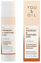 """Parfumuri și produse cosmetice Balsam de buze """"Nutriție și Îngrijire"""" - You & Oil Nourish & Nurture Lip Balm"""