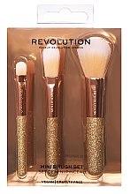Parfumuri și produse cosmetice Set pensule pentru machiaj, 3 bucăți - Makeup Revolution London Brushes Mini Brush Set