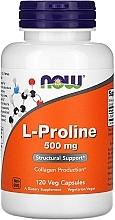Parfumuri și produse cosmetice Capsule L-Proline pentru articulații, 500 mg - Now Foods L-proline