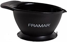 Parfumuri și produse cosmetice Bol pentru colorare cu bază de aspirație, negru - Framar SureGrip Suction Bowl Black
