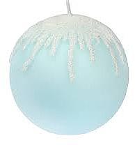 """Parfumuri și produse cosmetice Lumânare decorativă """"Blue Icicles"""", bilă, 10 cm - Artman Christmas"""