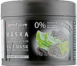 Mască cu cărbune activ pentru păr- DermoFuture Hair Mask With Activated Carbon — Imagine N2
