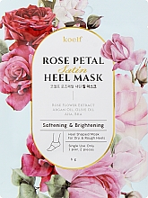 Parfumuri și produse cosmetice Mască de înmuiere pentru călcâi - Petitfee&Koelf Rose Petal Satin Heel Mask