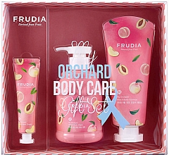 Parfumuri și produse cosmetice Set - Frudia My Orchard Peach Body Care Gift Set (sh/gel/300ml + essence/200ml + h/cr/30g)