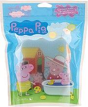 """Parfumuri și produse cosmetice Burete de baie """"Purcelușa Peppa"""", albastră - Suavipiel Peppa Pig Bath Sponge"""