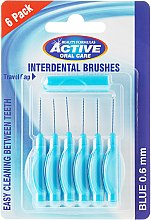Parfumuri și produse cosmetice Periuță interdentară, 0,6mm, albastră - Beauty Formulas Active Oral Care Interdental Brushes Blue