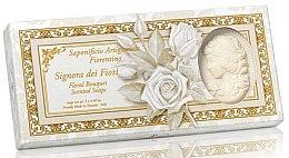 Parfumuri și produse cosmetice Set săpunuri naturale - Saponificio Artigianale Floral Bouquet Soap (soap/3pcsx125g)