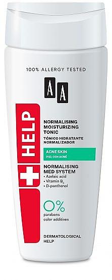 Tonic antibacterian hidratant pentru față - AA Cosmetics Help Antibacterial Moisturizing Tonic Acne Skin — Imagine N1