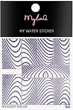 """Parfumuri și produse cosmetice Abțibilduri pentru unghii 9 """"Zebră"""" - MylaQ My Water Sticker"""