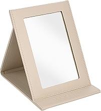 Parfumuri și produse cosmetice Oglindă tip carte, bej - MakeUp Tabletop Cosmetic Mirror Beige