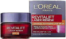Parfumuri și produse cosmetice Cremă de zi antirid - L'Oreal Paris Skin Expert SPF20 Revitalift Laser Renew Anti-Ageing Cream