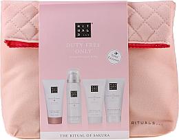 Parfumuri și produse cosmetice Set - The Ritual of Sakura Renewing Treat (b/cr/70ml + sh/g/50ml + shampoo/70ml + b/scrub/70ml + bag)