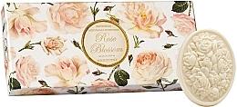 "Parfumuri și produse cosmetice Set săpunuri ""Trandafir"" - Saponificio Artigianale Fiorentino Rose Blossom (Soap/3x125g)"