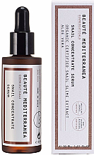 Parfumuri și produse cosmetice Ser anti-îmbătrânire cu extract de melc pentru față - Beaute Mediterranea Snail Concentrate Serum
