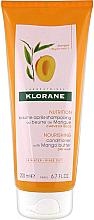 Parfumuri și produse cosmetice Balsam pentru păr - Klorane Nourishing Conditioner With Mango Butter