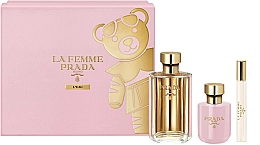 Parfumuri și produse cosmetice Prada La Femme L'Eau - Set (edt/100ml +b/lot/100ml + edt/mini/10ml)