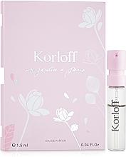 Parfumuri și produse cosmetice Korloff Paris Un Jardin A Paris - Apă de parfum (mostră)