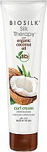 Parfumuri și produse cosmetice Cremă pentru aranjarea părului - BioSilk Silk Therapy Organic Coconut Oil Curl Cream