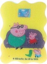 """Parfumuri și produse cosmetice Burete de baie """"Peppa Pig"""" pentru copii, George și Papa Pig - Suavipiel Peppa Pig Bath Sponge"""