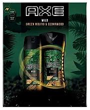 Parfumuri și produse cosmetice Set - Axe Wild Green Mojito & Cedarwood (deo/150ml + sh/gel/250ml)